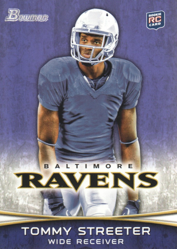 2012 Bowman Purple #114 Tommy Streeter