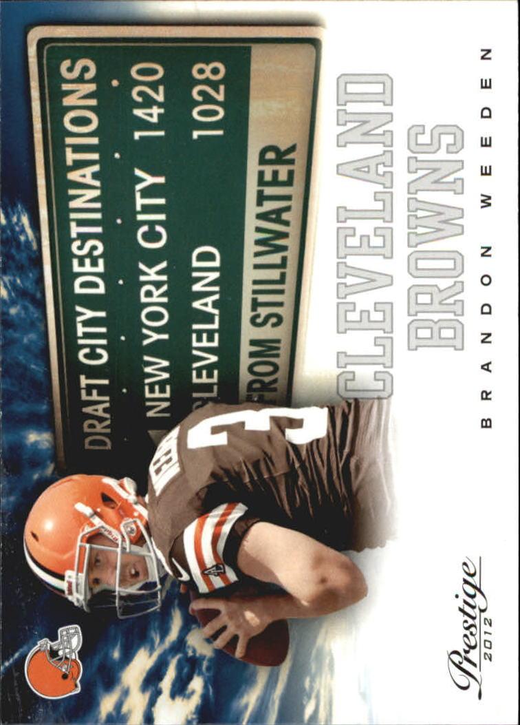2012 Prestige Draft City Destination #3 Brandon Weeden