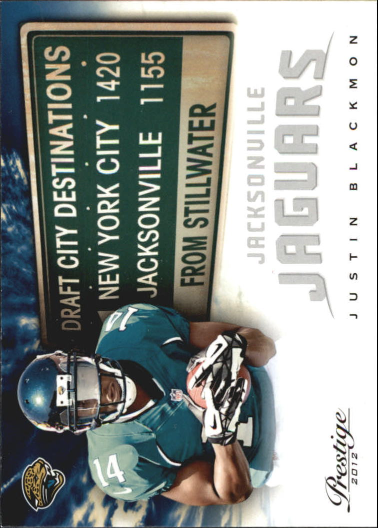 2012 Prestige Draft City Destination #6 Justin Blackmon