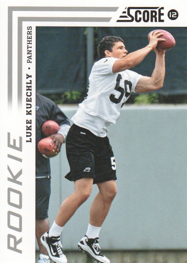 2012 Score #348A Luke Kuechly RC/(ball in picture)