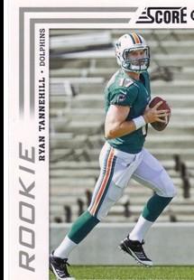 2012 Score #375A Ryan Tannehill RC/(scrambling pose)