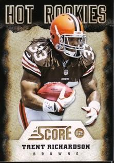 2012 Score Hot Rookies #3 Trent Richardson