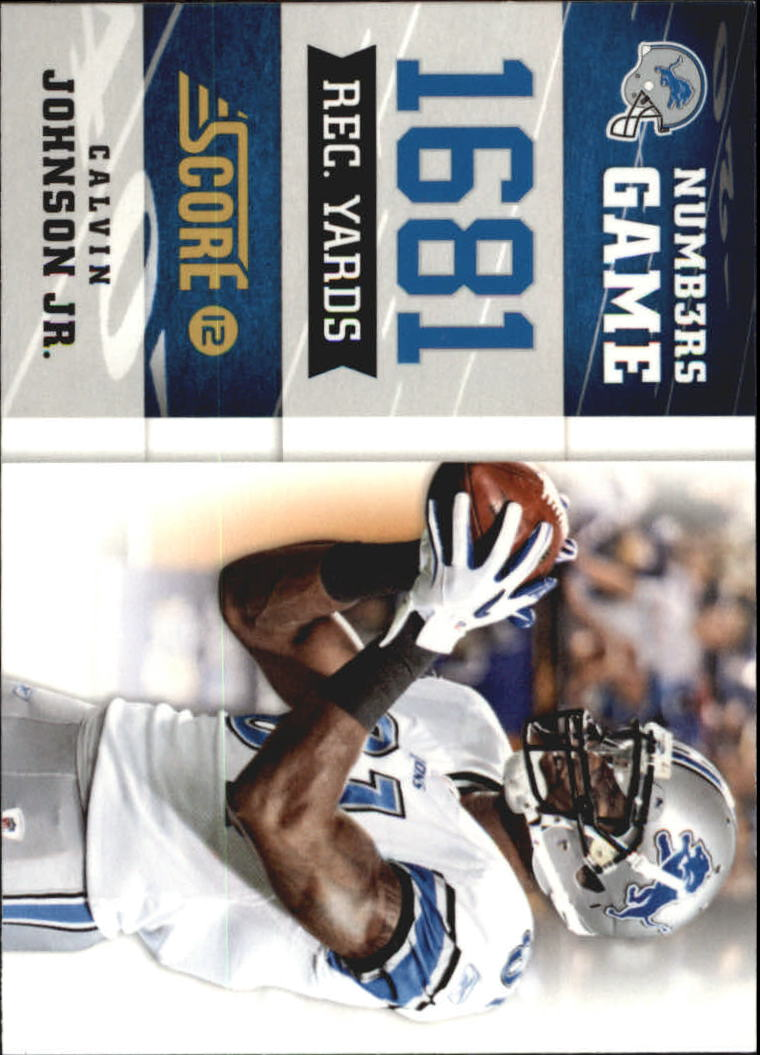 2012 Score Numbers Game Glossy #1 Calvin Johnson