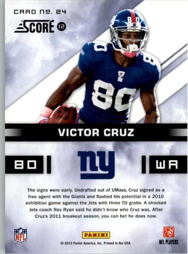 2012 Score In the Zone #24 Victor Cruz back image