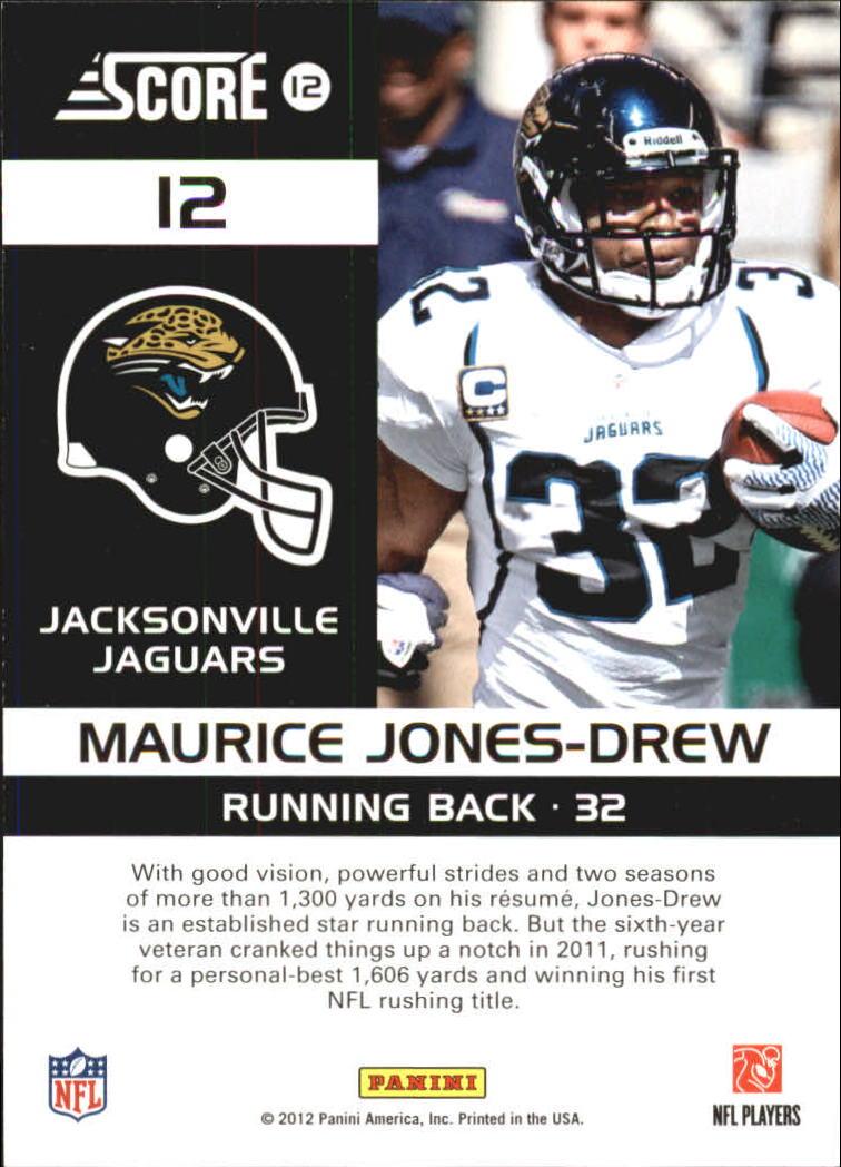 2012 Score Complete Players #12 Maurice Jones-Drew back image