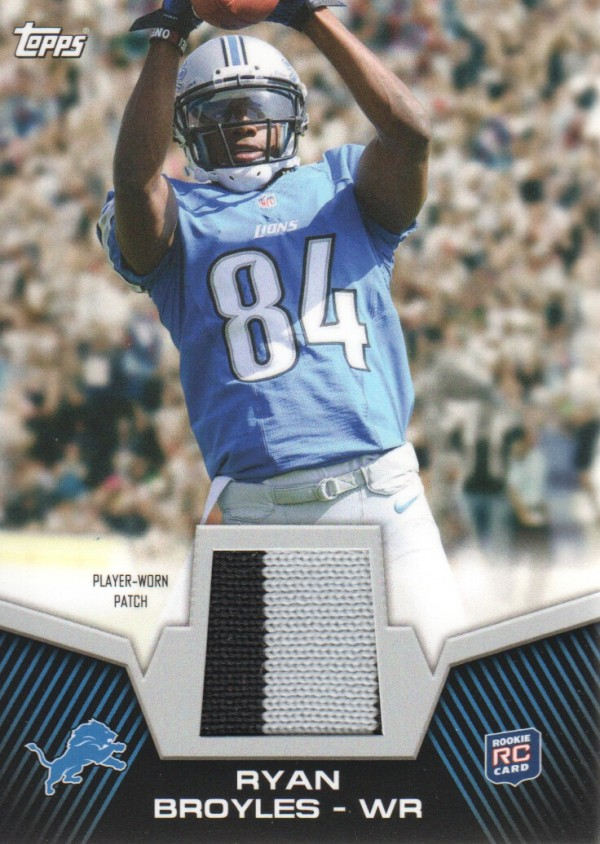2012 Topps Rookie Patch #RPRB Ryan Broyles