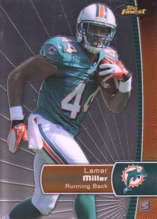 2012 Finest #107 Lamar Miller RC