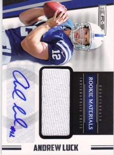 2012 Rookies and Stars #216 Andrew Luck JSY AU RC