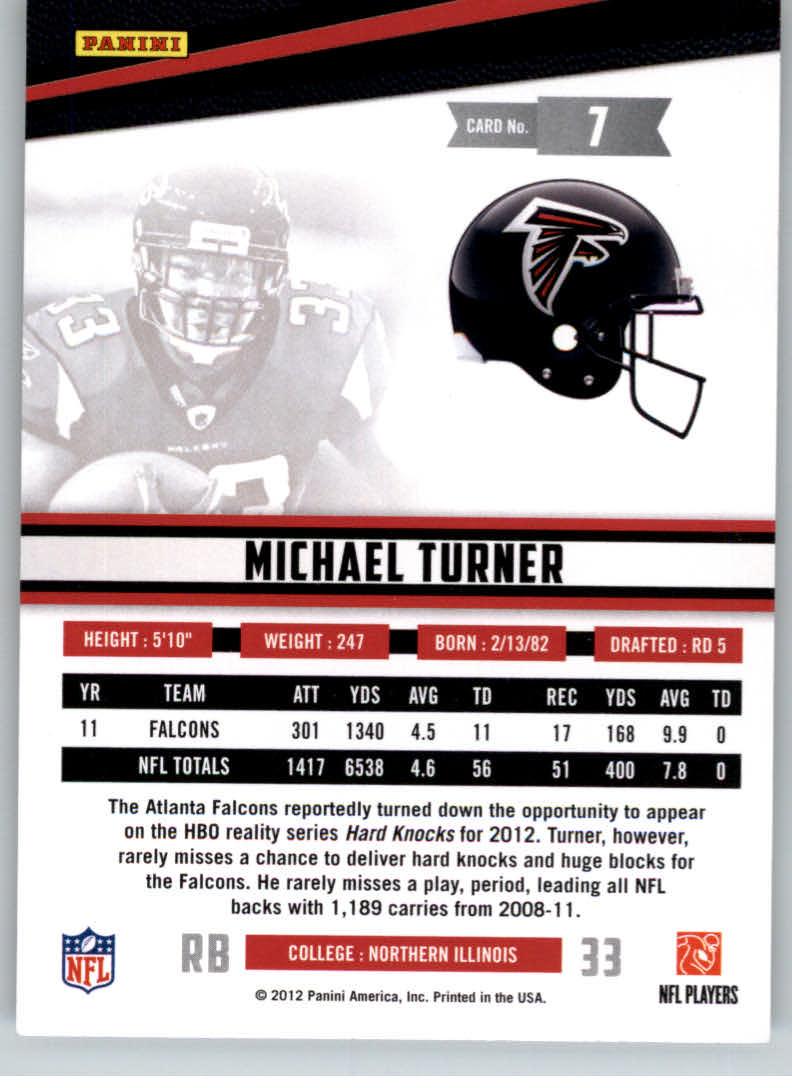 2012 Rookies and Stars True Blue #7 Michael Turner back image
