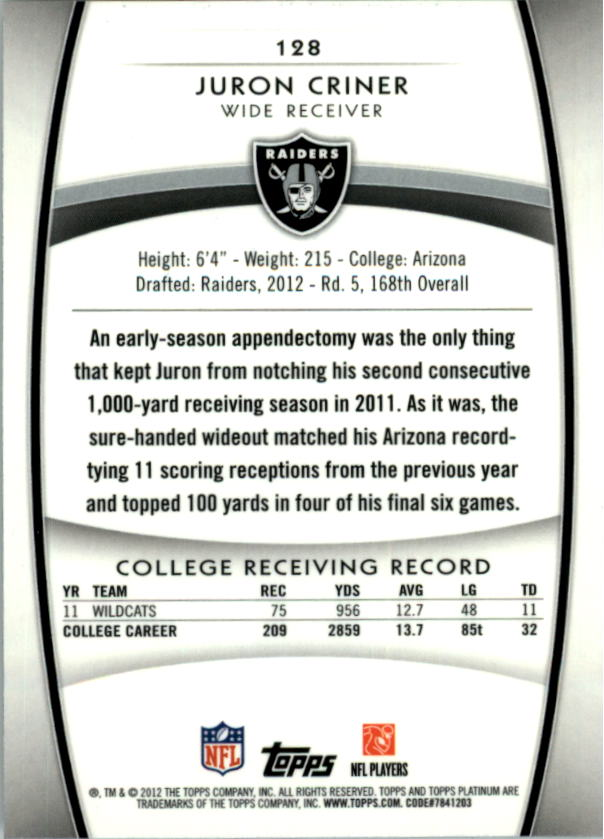 2012-Topps-Platinum-Football-1-149-Your-Choice-GOTBASEBALLCARDS thumbnail 235