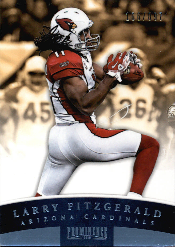 2012 Panini Prominence #3A Larry Fitzgerald P