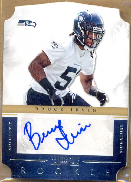 2012 Panini Prominence #159 Bruce Irvin AU/199 RC
