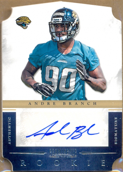 2012 Panini Prominence #173 Andre Branch AU/496 RC