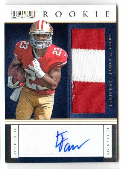 2012 Panini Prominence #224 LaMichael James JSY AU/150 RC