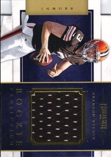 2012 Panini Prominence Rookie Projection Materials #18 Brandon Weeden