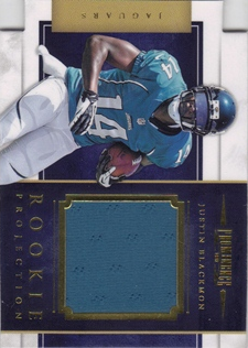 2012 Panini Prominence Rookie Projection Materials #23 Justin Blackmon