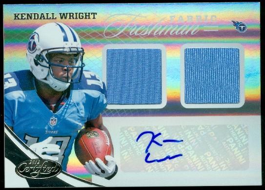 2012 Certified #322 Kendall Wright JSY AU/399 RC