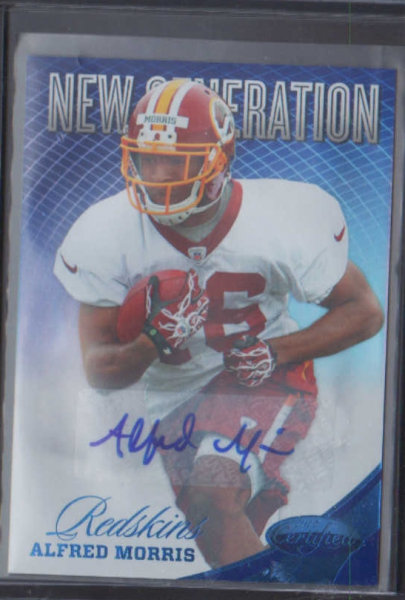 2012 Certified Mirror Blue Signatures #251 Alfred Morris/49