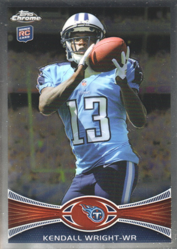 2012 Topps Chrome #212A Kendall Wright RC/football in hands