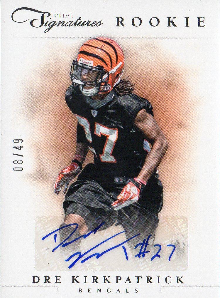 2012 Prime Signatures Autographs Silver #191 Dre Kirkpatrick/49