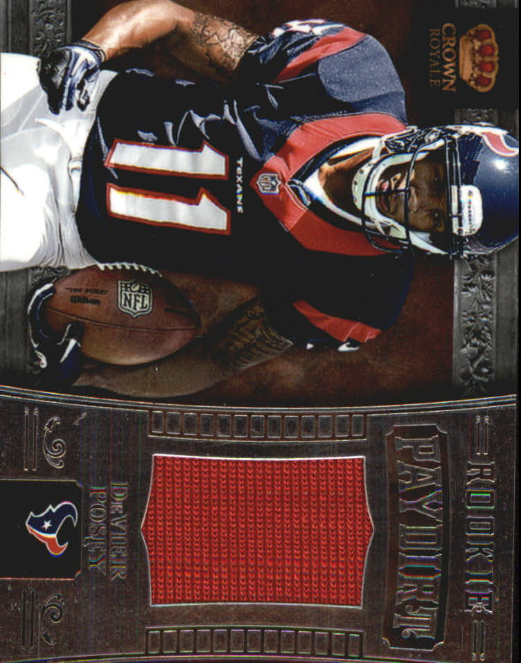 2012 Crown Royale Rookie Paydirt Materials #11 DeVier Posey
