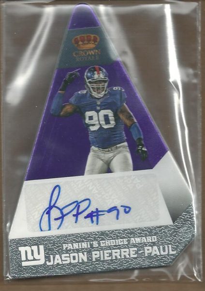 2012 Crown Royale Panini's Choice Autographs Purple #50 Jason Pierre-Paul/10