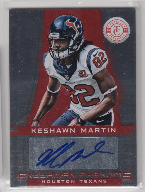 2012 Totally Certified #141 Keshawn Martin AU/290 RC