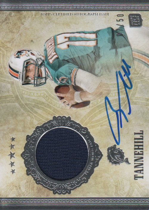 2012 Topps Five Star #151 Ryan Tannehill JSY AU/50 RC