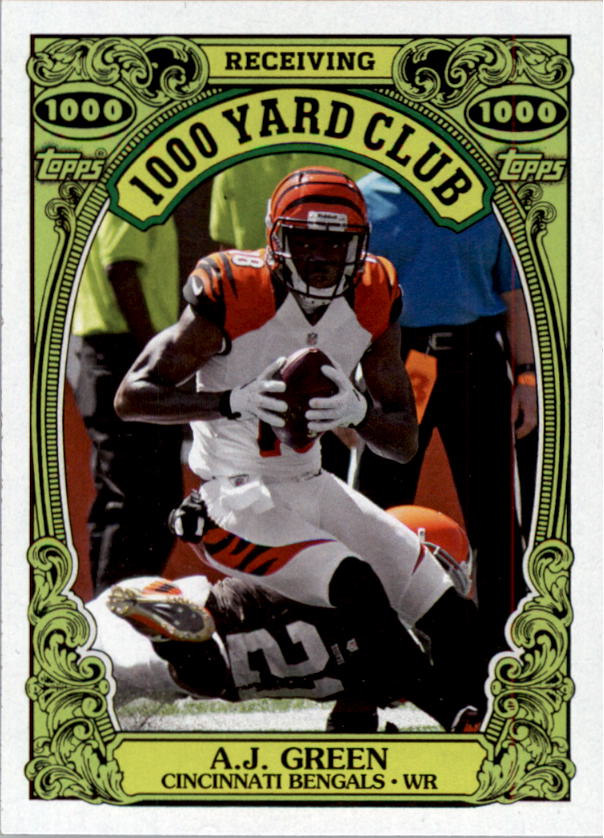 2013 Topps Archives 1000 Yard Club #1 A.J. Green