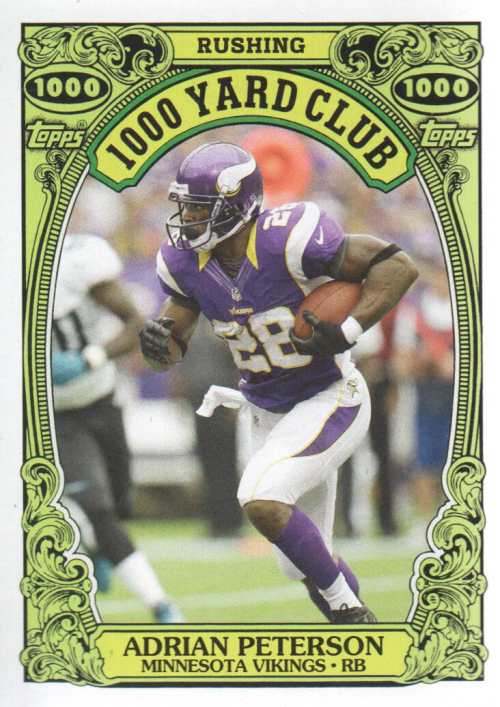 2013 Topps Archives 1000 Yard Club #2 Adrian Peterson