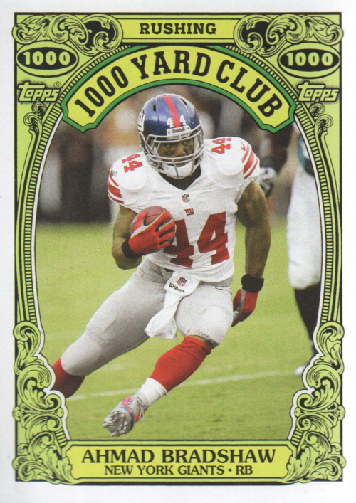 2013 Topps Archives 1000 Yard Club #3 Ahmad Bradshaw
