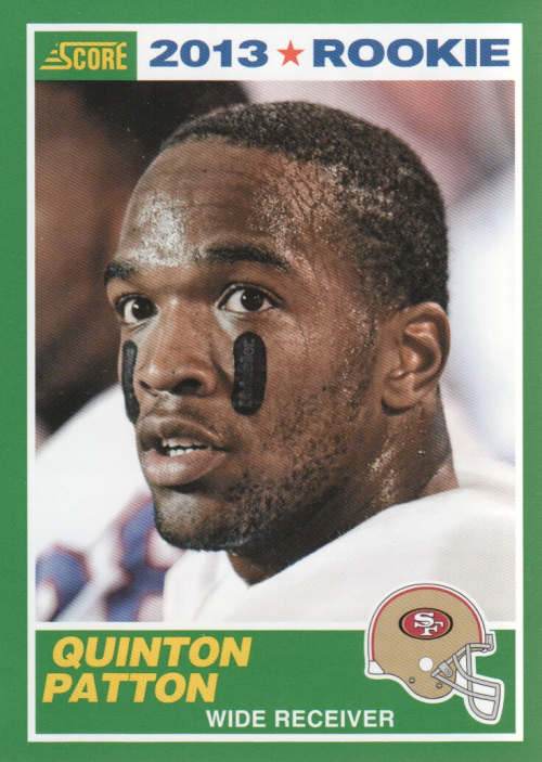 2013 Score #413 Quinton Patton RC