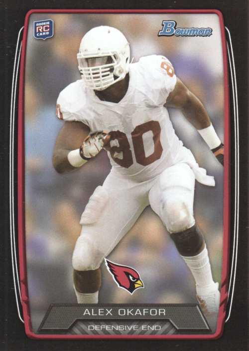 2013 Bowman Black #160 Alex Okafor