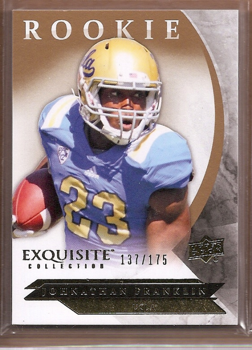 2012 Exquisite Collection Draft Picks #ERJF Johnathan Franklin