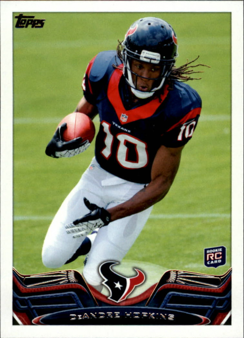 2013 Topps #155A DeAndre Hopkins RC/(ball in right arm)