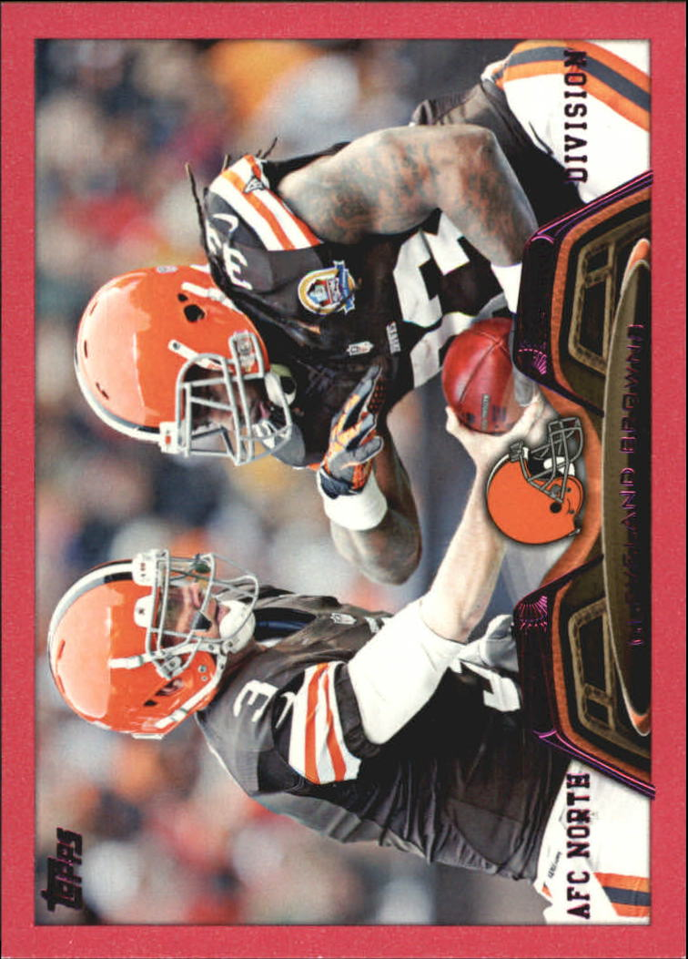 2013 Topps Pink #24 Cleveland Browns/Brandon Weeden/Trent Richardson