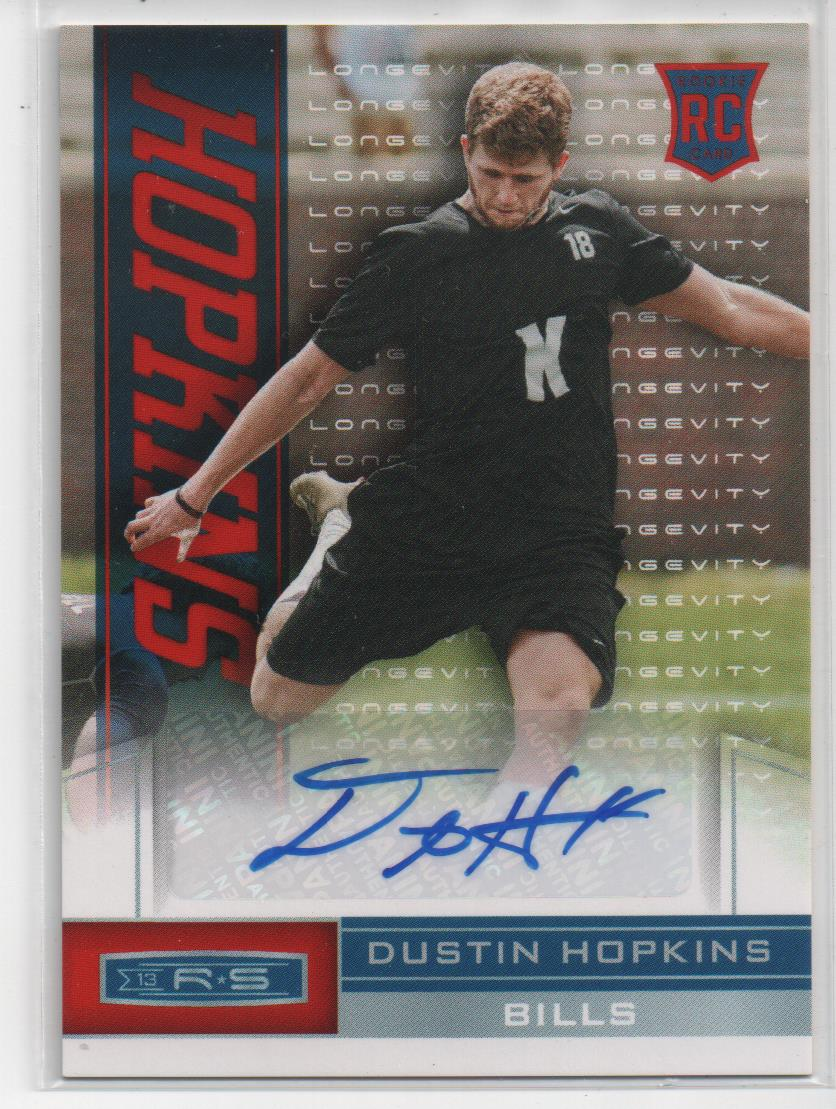 2013 Rookies and Stars Rookie Autographs Longevity #250 Dustin Hopkins