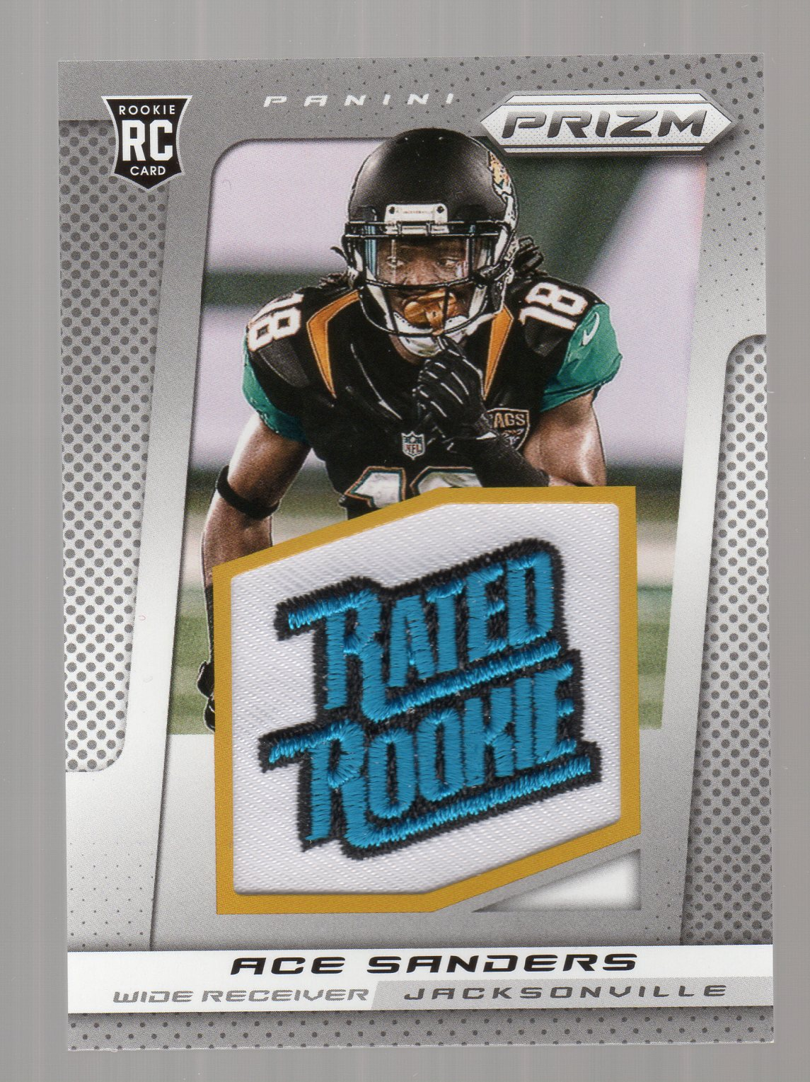 2013 Panini Prizm Rated Rookie Patches #203 Ace Sanders