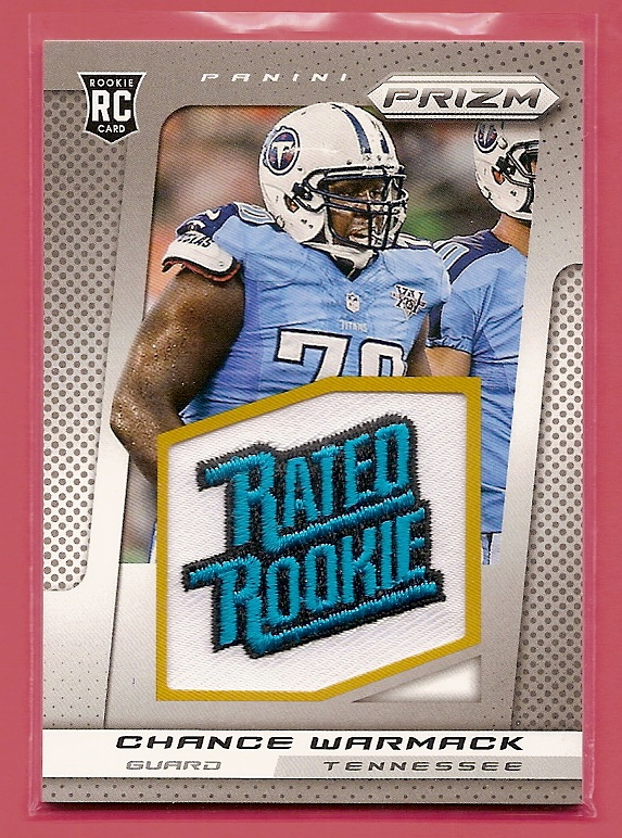 2013 Panini Prizm Rated Rookie Patches #210 Chance Warmack
