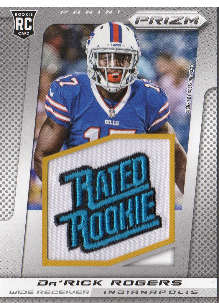 2013 Panini Prizm Rated Rookie Patches #221 Da'Rick Rogers
