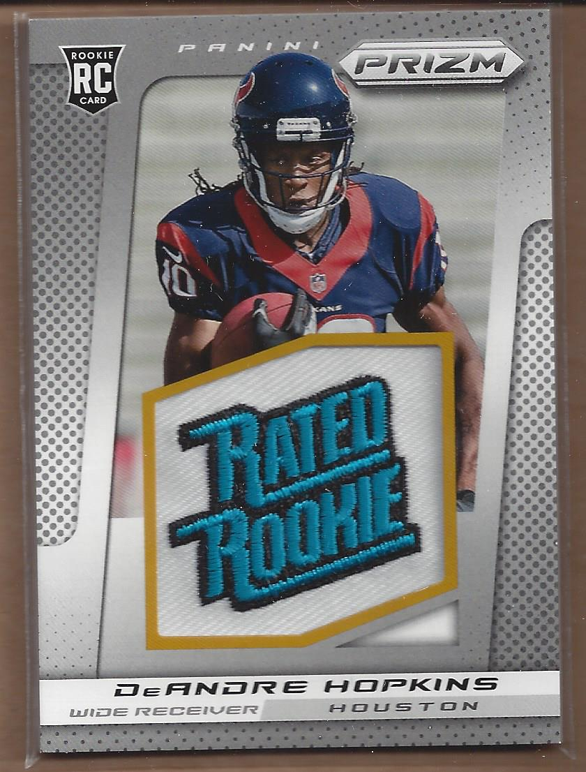 2013 Panini Prizm Rated Rookie Patches #225 DeAndre Hopkins