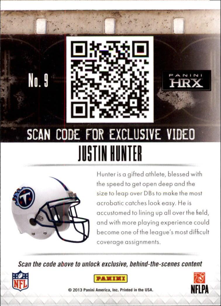 2013 Panini Prizm HRX Rookies #9 Justin Hunter back image
