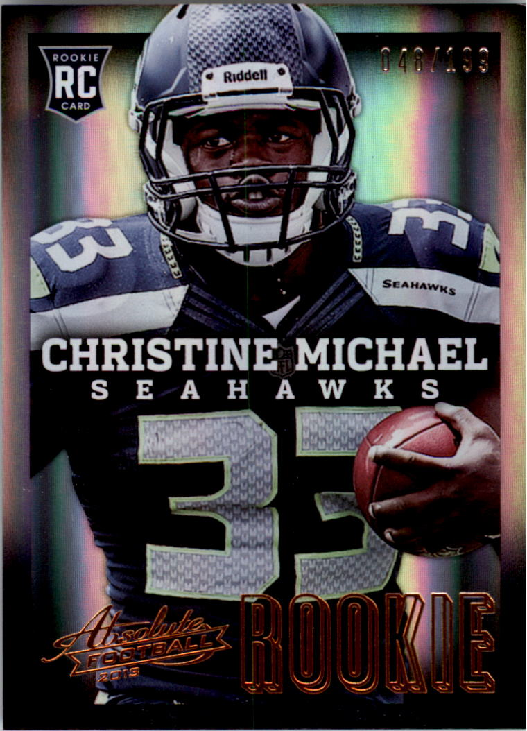 2013 Absolute #113A Christine Michael/199 RC