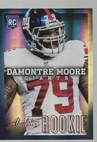2013 Absolute #118 Damontre Moore/499 RC