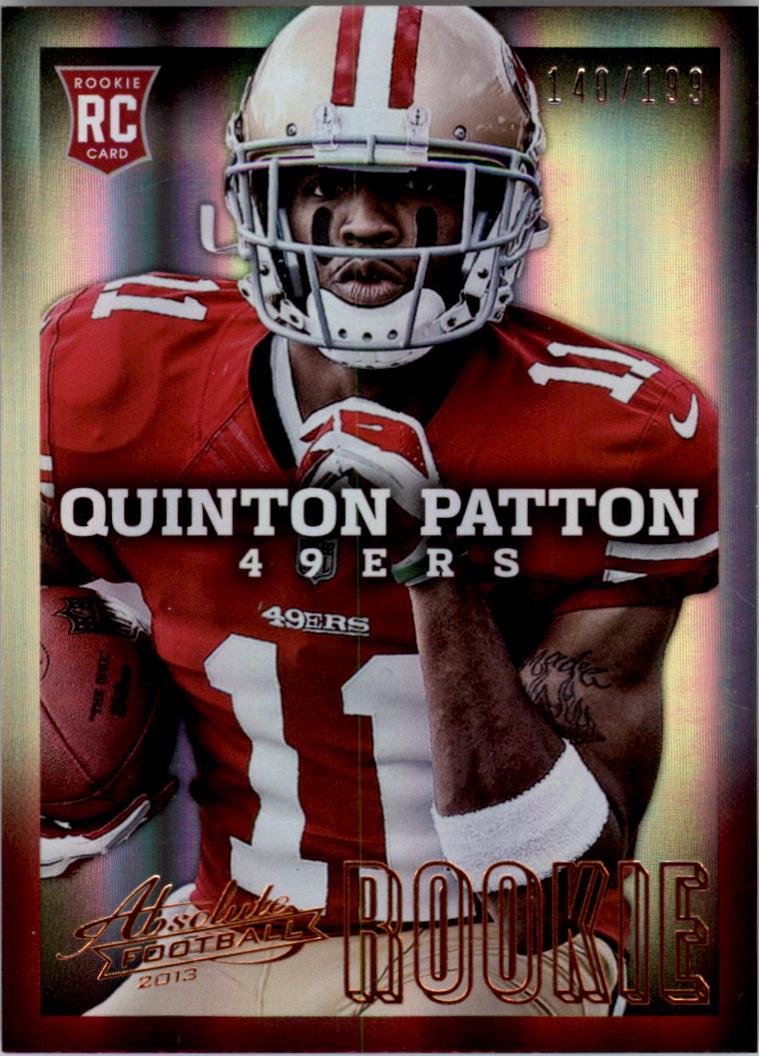 2013 Absolute #175A Quinton Patton/199 RC