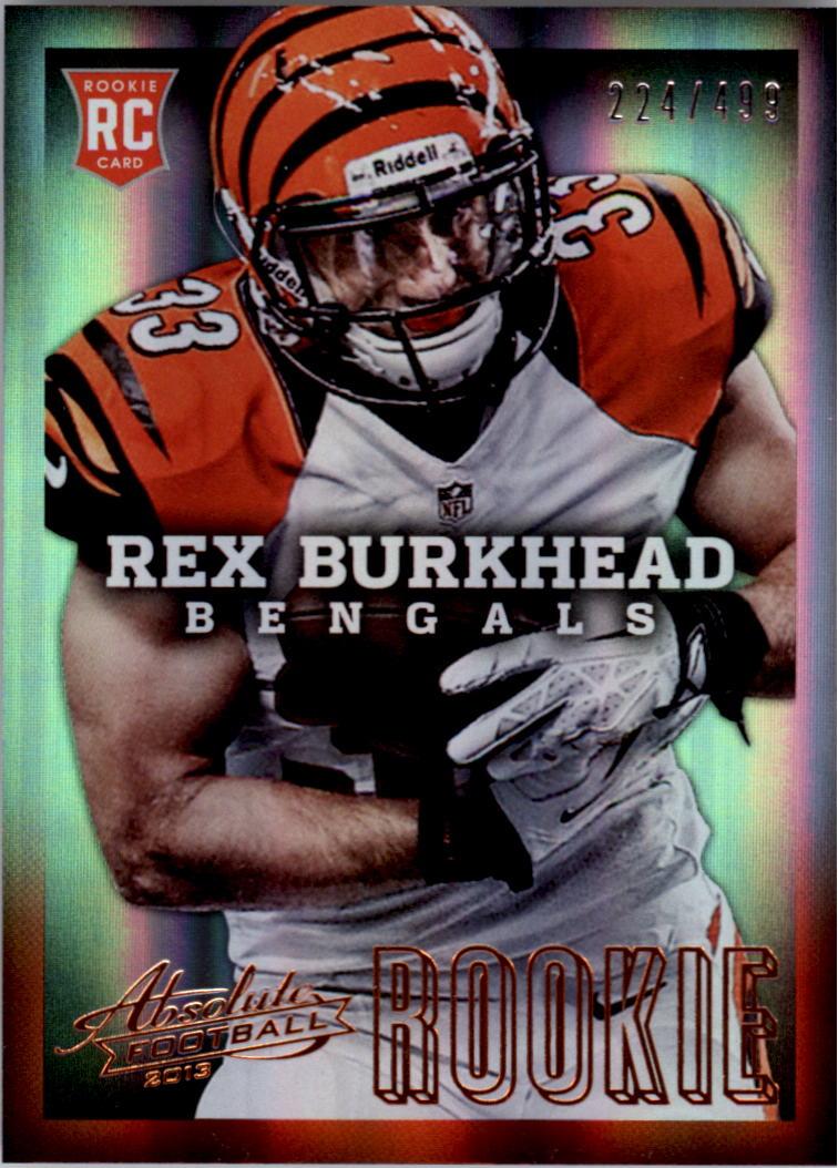2013 Absolute #176A Rex Burkhead/499 RC