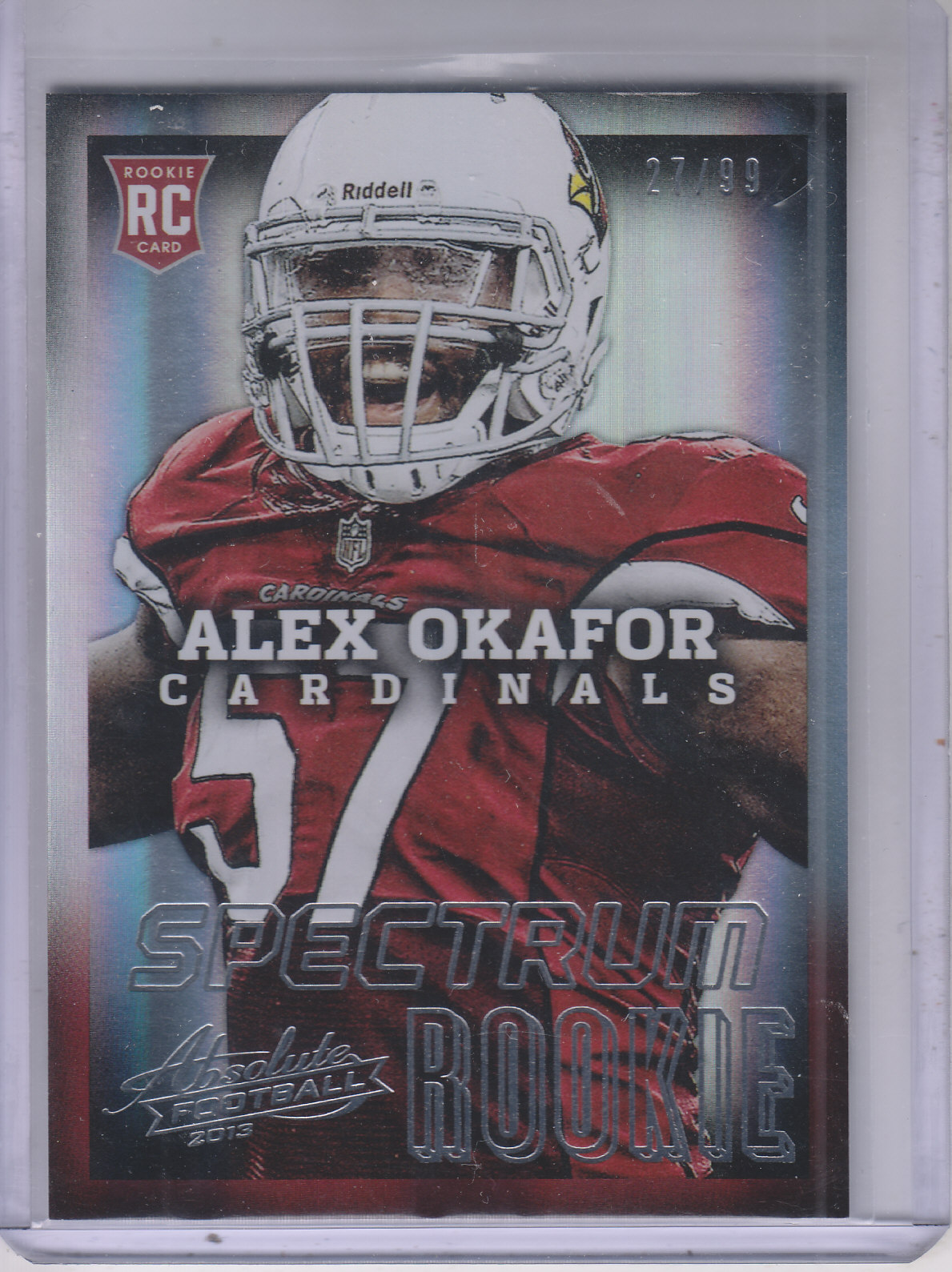 2013 Absolute Spectrum Silver #105 Alex Okafor