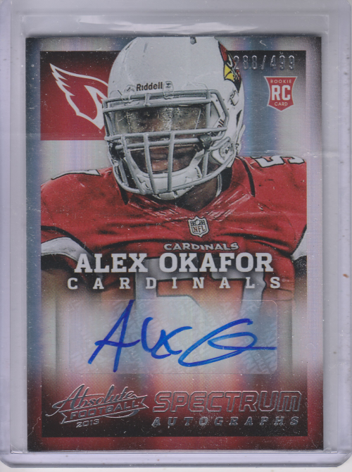 2013 Absolute Spectrum Silver Autographs #105 Alex Okafor/499