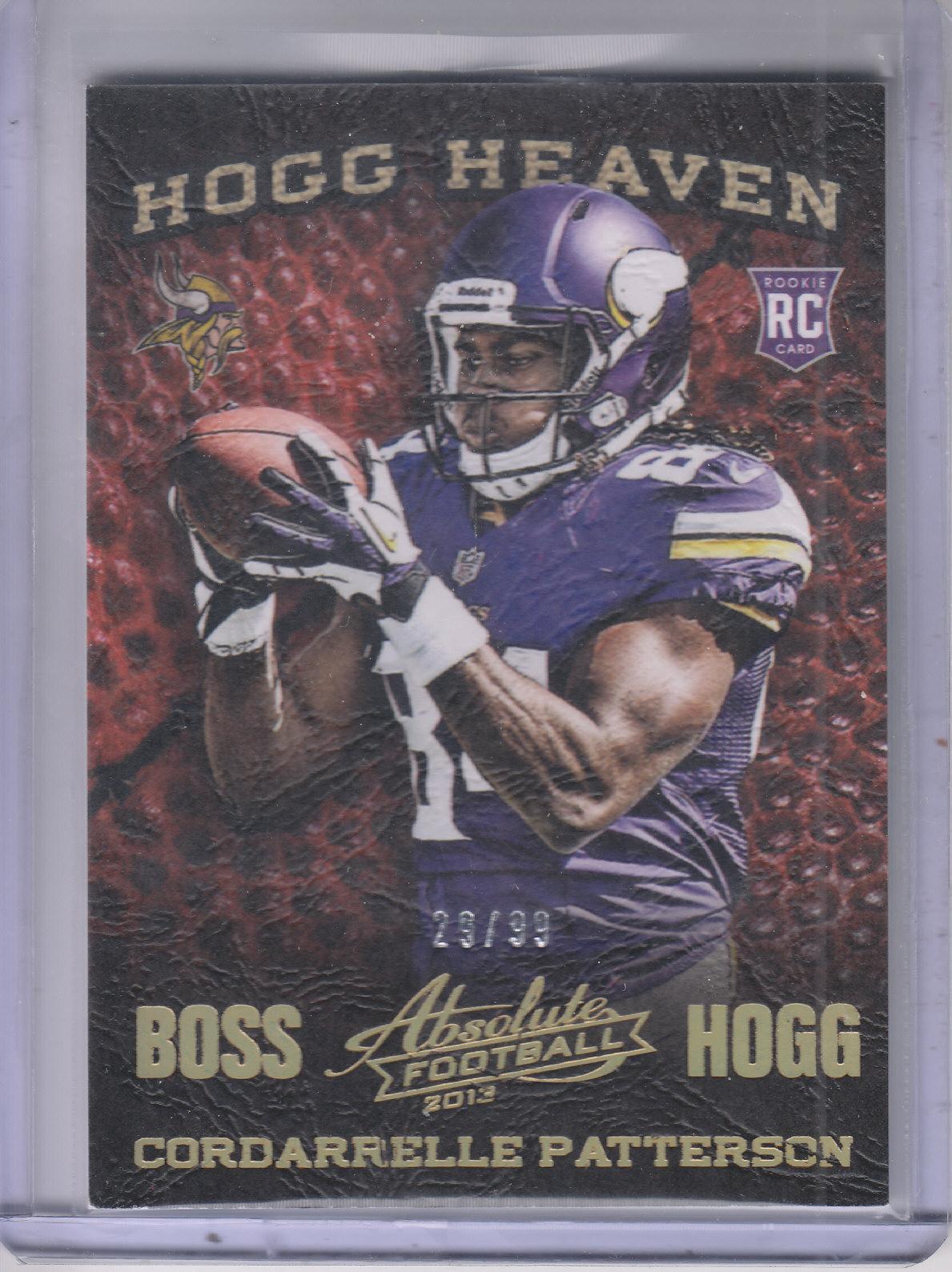 2013 Absolute Hogg Heaven Boss Hogg #61 Cordarrelle Patterson