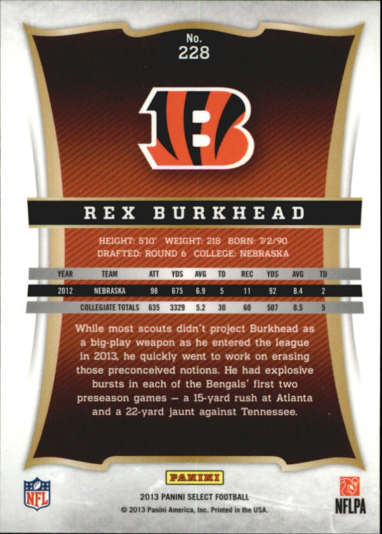 2013 Select #228 Rex Burkhead RC